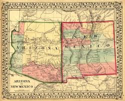 New Mexico and Arizona Map