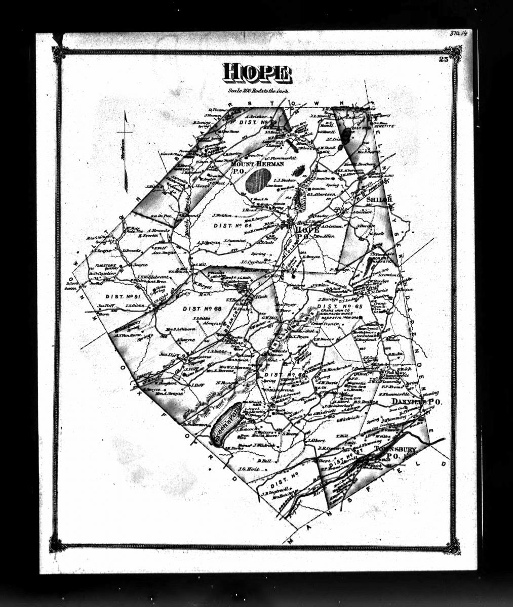 Land Map Dennis Tinsman 1874