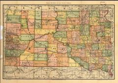 South Dakota Map 1892