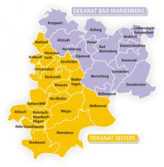 Map of the Evangelical Churches in Germany