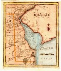 Early Delaware Map