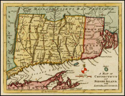 Connecticut and Rhode Island Map