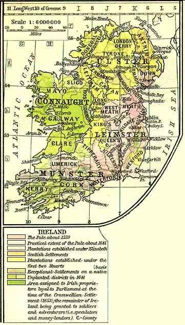 Early Map of Ireland
