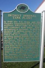 Detroit Arsenal Plaque
