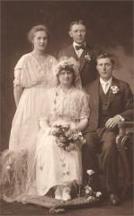 William and Hilda Seim Tagge, Married 1916 with Frieda Tagge and Carl Seim.jpg