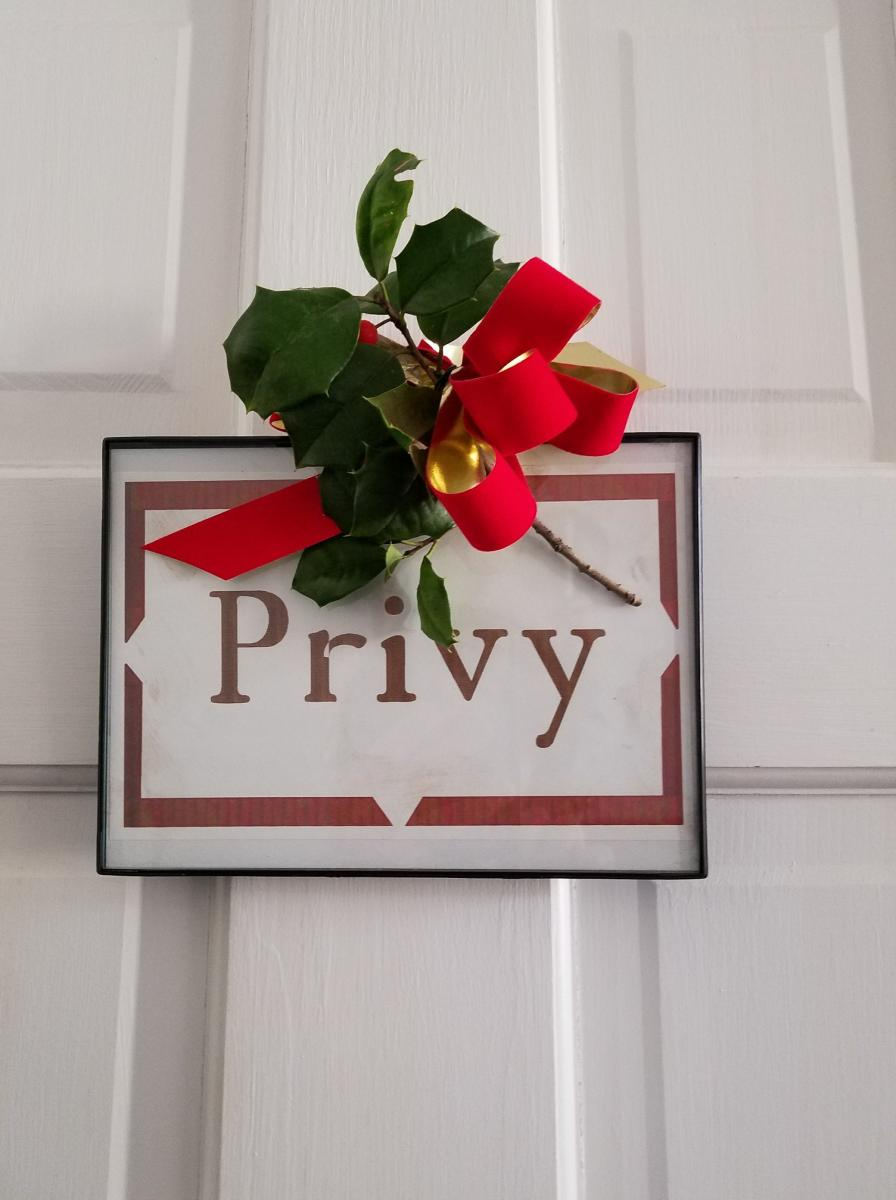 Privy...need I say more?