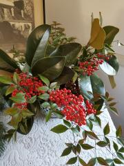Greenery and holly