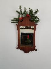Mirror with greenery