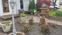 Front Porch and new Urns